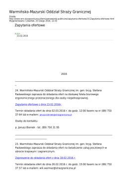 Generuj PDF z tej stronie - Straż Graniczna Warmińsko