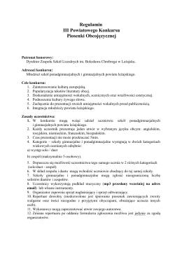załącznik 3 - regulamin - Zespół Szkół Licealnych im. Bolesława