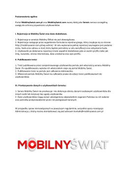 Regulamin - Mobilny Świat