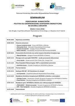 SEMINARIUM Program