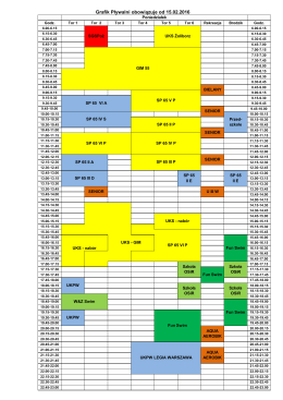 Grafik obłożenia basenu obowiązujący od 15.02