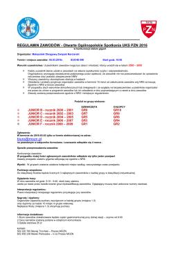 MOZN regulamin OOS UKS PZN 2016