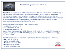 Toyota Auris - TotalMoney.pl