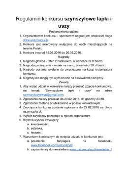Regulamin - U Szynszyla