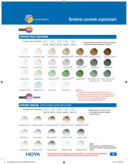Barwienia soczewek organicznych