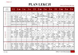 plan lekcji - 13 LO w Szczecinie