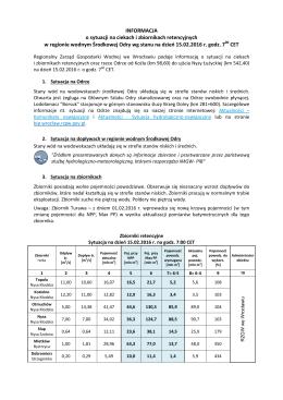 Komunikat o sytuacji w regionie z dn. 15.02.2016 r.