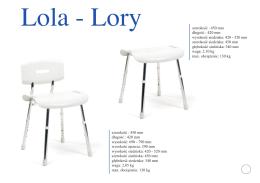 Lola - Lory szerokość : 450 mm długość : 420 mm wysokość