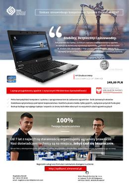 Laptop dla aplikanta - Egzamin Radcowski 2016