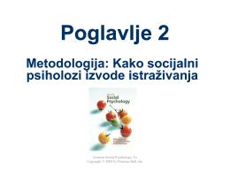 Chapter 2 P3 Methodologija Kako socijalni psiholozi izvode