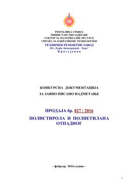 TRZK Kragujevac,OTPAD POLIETILEN, POLISTIROL