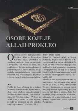 Osobe koje je Allah prokleo