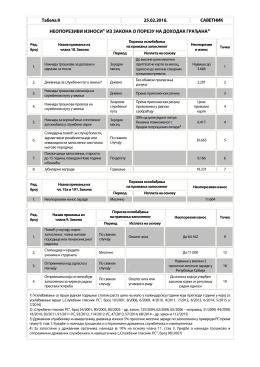 Табела бр. 8
