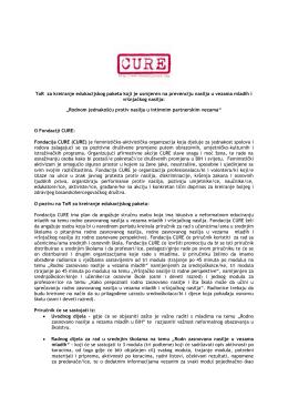Fondacija CURE objavljuje TOR