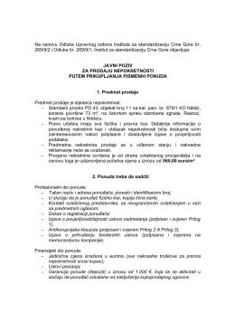 Opširnije... - Institut za standardizaciju Crne Gore
