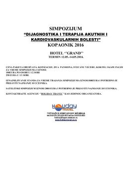 "Simpozijum ,,Terapija akutnog koronarnog sindroma"""