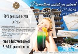 Promotivni paket - Hotel Premier Aqua