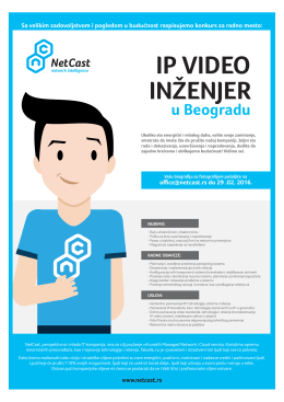 IP video inženjer - Razvoj karijere