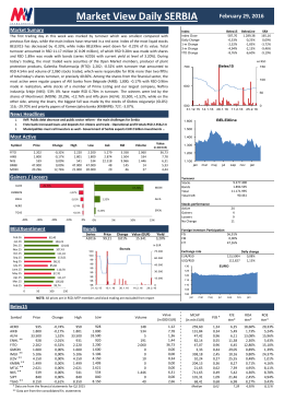 Market View Daily SERBIA February 26, 2016