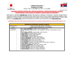 Japanska podrška opštinama Šid, Bujanovac, Bosilegrad i