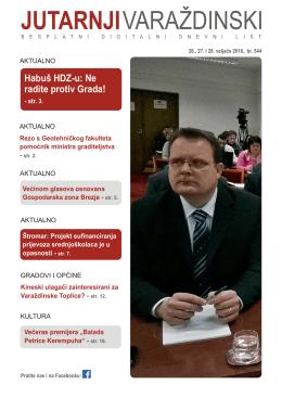 Habuš HDZ-u: Ne radite protiv Grada!