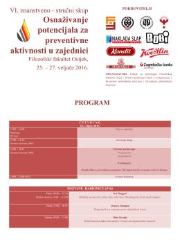 Program - Filozofski fakultet Osijek