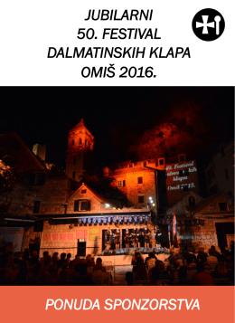 prigodnoj brošuri - Festival Dalmatinskih Klapa Omiš