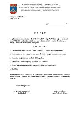 poziv - NS Osijek