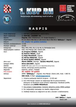 Raspis natjecanja