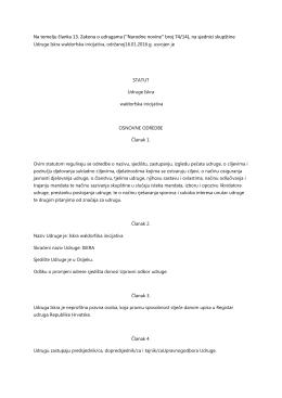 Statut - Iskra Waldorf Hrvatska