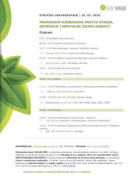 Program i informacije o prijavama