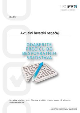 Aktualni hrvatski natječaji