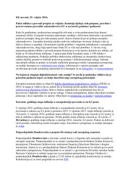 EK novosti, 25. veljače 2016. Paket odluka o povredi propisa za