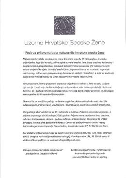 Uzorne Hrvatske Seoske Zene
