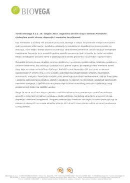 Tvrtka Biovega d.o.o. 26. veljače 2016. organizira stručni skup s