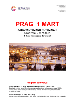 PRAG 1 MART - CITY TRAVEL TOURS