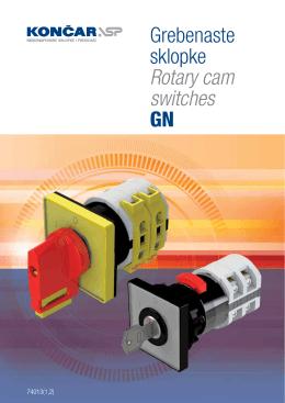 Grebenaste sklopke Rotary cam switches GN