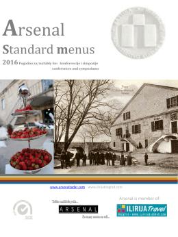 Standard menus - Arsenal Zadar