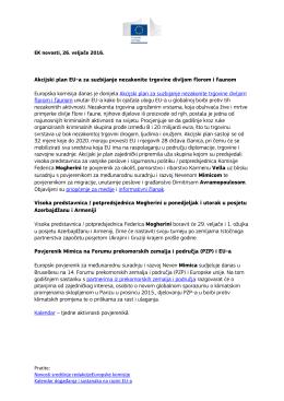 EK novosti 26. Veljače 2016. Akcijski plan EU