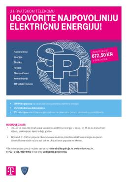 ugovorite najpovoljniju električnu energiju!