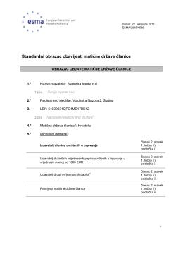 Slatinska banka d.d. - Informacije o matičnoj državi članice