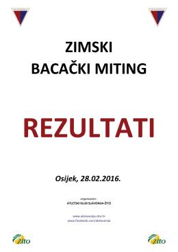 Rezultati - AK Slavonija