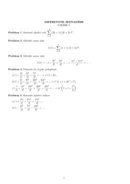 """DIFERENTNE JEDNAD8ZBE &%$)`#$ """" Problem 1 Sumirati"""