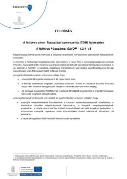 felhívás - palyazat.gov.hu