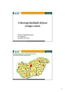 A közösségi közlekedés helyzete országos szinten Aba Botond