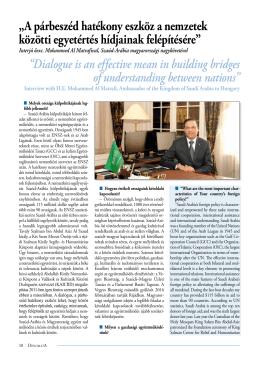Interjú Őexc. Mohammed Al Matrafival, Szaúd
