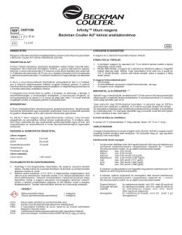 Infinity™ lítium reagens Beckman Coulter AU® kémiai analizátorokhoz