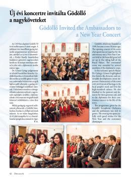 Új évi koncertre invitálta Gödöllő a nagyköveteket