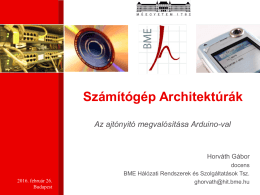 Az Arduino család - BME Hálózati Rendszerek és Szolgáltatások