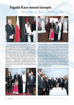 Fogadás Katar nemzeti ünnepén